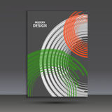 Vector color line twirl design. Cover template Royalty Free Stock Photo