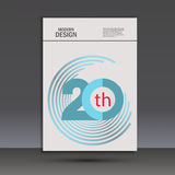 Vector color line twirl design. Cover template Stock Image