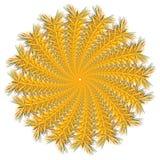 Vector color monochrome mandala. Contour spirograph, patterned design element, ethnic amulet. Bright psychedelic mandala on a white background. Doodling style Royalty Free Illustration