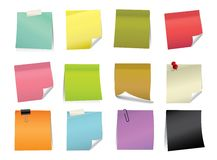 Vector Color Note Pad. Various Color and design for the  sticky pad Stock Photos