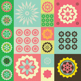 Vector color ornament from flower symbols Royalty Free Stock Images