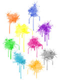 Vector color paint splat Royalty Free Stock Images
