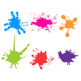 Vector color paint splatter. Paint splashes set.Vector illustrat. Ion design Stock Image