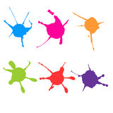 Vector color paint splatter. Paint splatter set.Vector illustrat. Ion Royalty Free Stock Photo