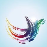 Vector: Color Paint Water Wave Royalty Free Stock Photography