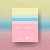 Vector color palette Royalty Free Stock Photos