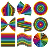 Vector color palette. Range of 85 colors in different shapes for calibration, proof and printout Stock Photography