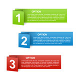 Vector color paper option labels Royalty Free Stock Image