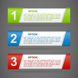 Vector color paper option labels Stock Photo