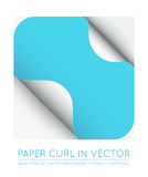 Vector Color Paper Page Curl with Shadow Isolated. Stock Images