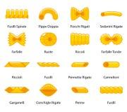 Vector color pasta collection Stock Photos