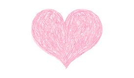 Vector Color Pencil Heart Stock Photography