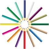 Vector color pencil Royalty Free Stock Photo