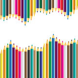 Vector color pencil on white background. Vector illustration Stock Photos