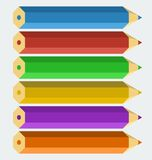 Vector color pencils Royalty Free Stock Photos