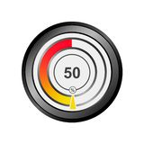Vector color percentage chart indicator. royalty free illustration