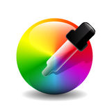 Vector color picer icon Royalty Free Stock Images