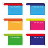 Vector color pointers Stock Photos