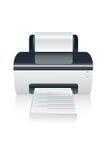 Vector color printer device Stock Photos