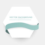 Vector color ribbons isolated on white background Stock Images