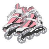 Vector color roller skates 02 Stock Image