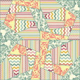 Vector color seamless patchwork pattern Stock Images