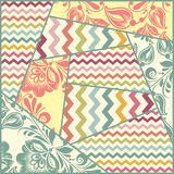 Vector color seamless patchwork pattern Stock Photos