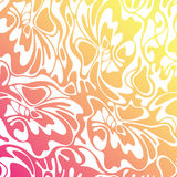 Vector color seamless wave background. Orange abstract sunny tex Royalty Free Stock Image