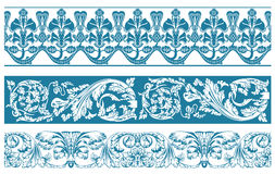 Vector color set. Ornate borders. And vintage scroll elements illustration stock illustration