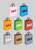 Vector color shopping bags Royalty Free Stock Images