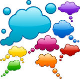 Vector color speech bubbles. Royalty Free Stock Photos