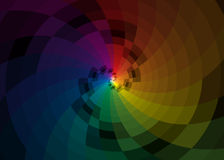 Vector color spiral background. Vector color rainbow spiral background Stock Images