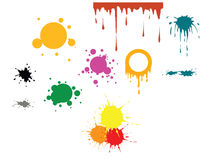 Vector color spots Stock Image