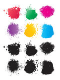 Vector Color Spots. Set of vector color spots Stock Images
