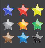 Vector color star button Royalty Free Stock Photos
