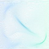 Vector color stripe deformation background. Wave distorted texture of color gradation. Abstract dynamical rippled surface. Vector stripe deformation background stock illustration
