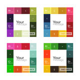 Vector color stripes infographics templates. With sample option text, isolated on white. Geometric business abstract layouts for your message or figure Royalty Free Stock Images