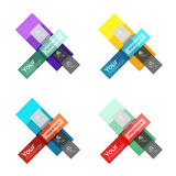 Vector color stripes infographics templates Stock Photography