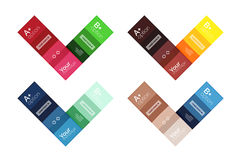 Vector color stripes infographics templates Royalty Free Stock Image