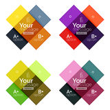 Vector color stripes infographics templates Stock Image