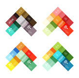 Vector color stripes infographics templates Stock Photo