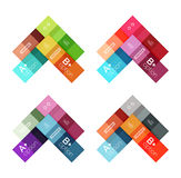 Vector color stripes infographics templates. With sample option text, isolated on white. Geometric business abstract layouts for your message or figure Stock Photo