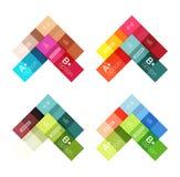 Vector color stripes infographics templates Stock Photos