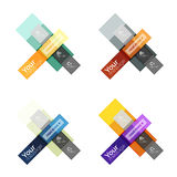 Vector color stripes infographics templates. With sample option text, isolated on white. Geometric business abstract layouts for your message or figure Royalty Free Stock Photography