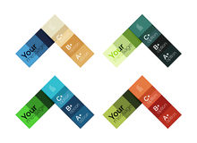 Vector color stripes infographics templates Royalty Free Stock Photos