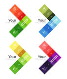 Vector color stripes infographics templates Royalty Free Stock Photo