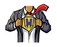Vector color Superhero Stock Image