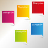 Vector color tags with place for your text Stock Photos