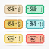 Vector color tickets set Stock Photography