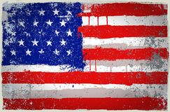 Vector color USA paint flag Stock Photo